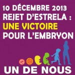 10 décembre 2013. Rapport Estrela rejeté: Victoire!